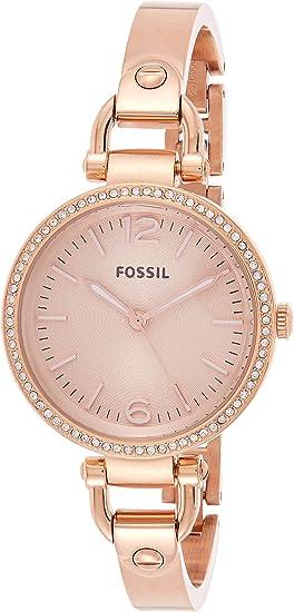 Fossil Womens Georgia Stainless Steel Dress Quartz Watch