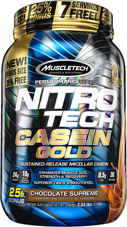 Muscletech Performance Series Nitro Tech Casein Gold Chocolate Supreme - 1152 gr