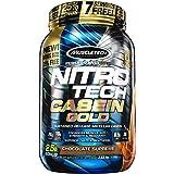 MuscleTech Nitro Tech Casein Gold 100% Protein Powder Chocolate Supreme, 2.5 Pound