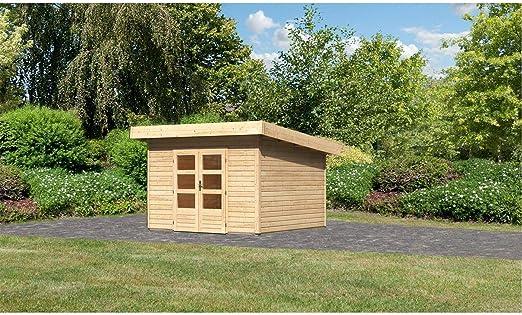 Röhrs Edition Karibu - Casa de jardín con 3 Casas de Madera de Abeto (309 x 309 cm, Grosor de la Pared de 40 mm): Amazon.es: Jardín