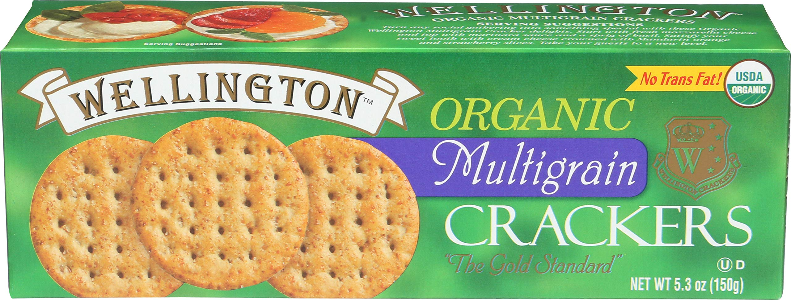 Wellington Organic Multigrain Water Crackers, 5.3-Ounces (Pack of 12) by Wellington