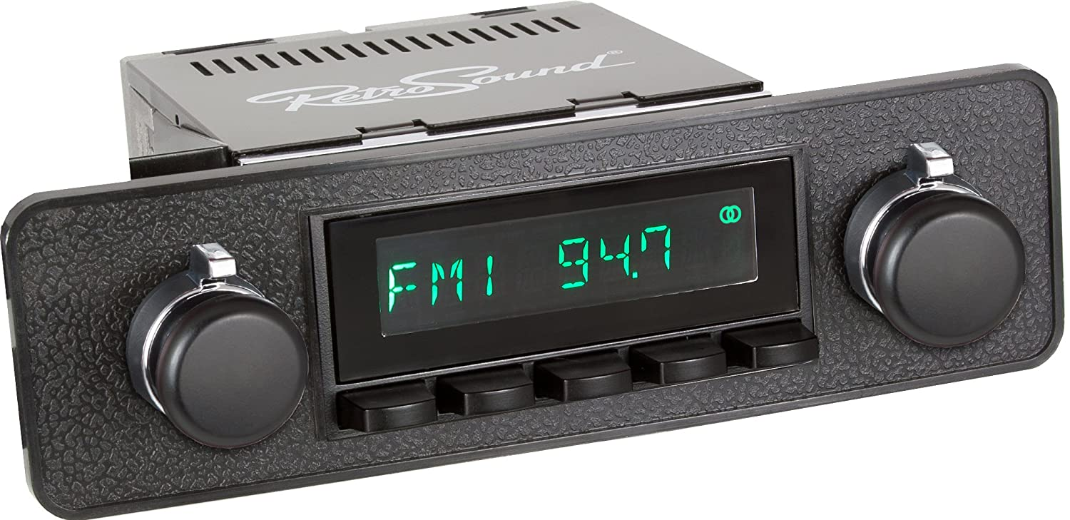 RetroSound HB-218-03-73 Hermosa Direct-fit Radio for Classic Vehicles Black Face /& Buttons and Black Bezel