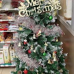 Amazon Shareconnn クリスマスツリー 130cm 枝数400本 松かさ付き 雪化粧 北欧 高濃密度 組立簡単 収納便利 クリスマス飾り プレゼント 緑 クリスマスツリー おもちゃ