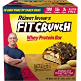 FITCRUNCH Chef Robert Irvine's Whey Protein Bars, 18 Count Chocolate Peanut Butter