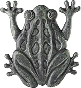 Upper Deck Cast Iron Frog Stepping Stone - Animal Garden and Yard Decor with Verdigris Finish
