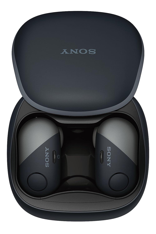 Sony SP700N Truly Wireless Noise Canceling Sports In-Ear Headphones, Black (WF-SP700N/B)
