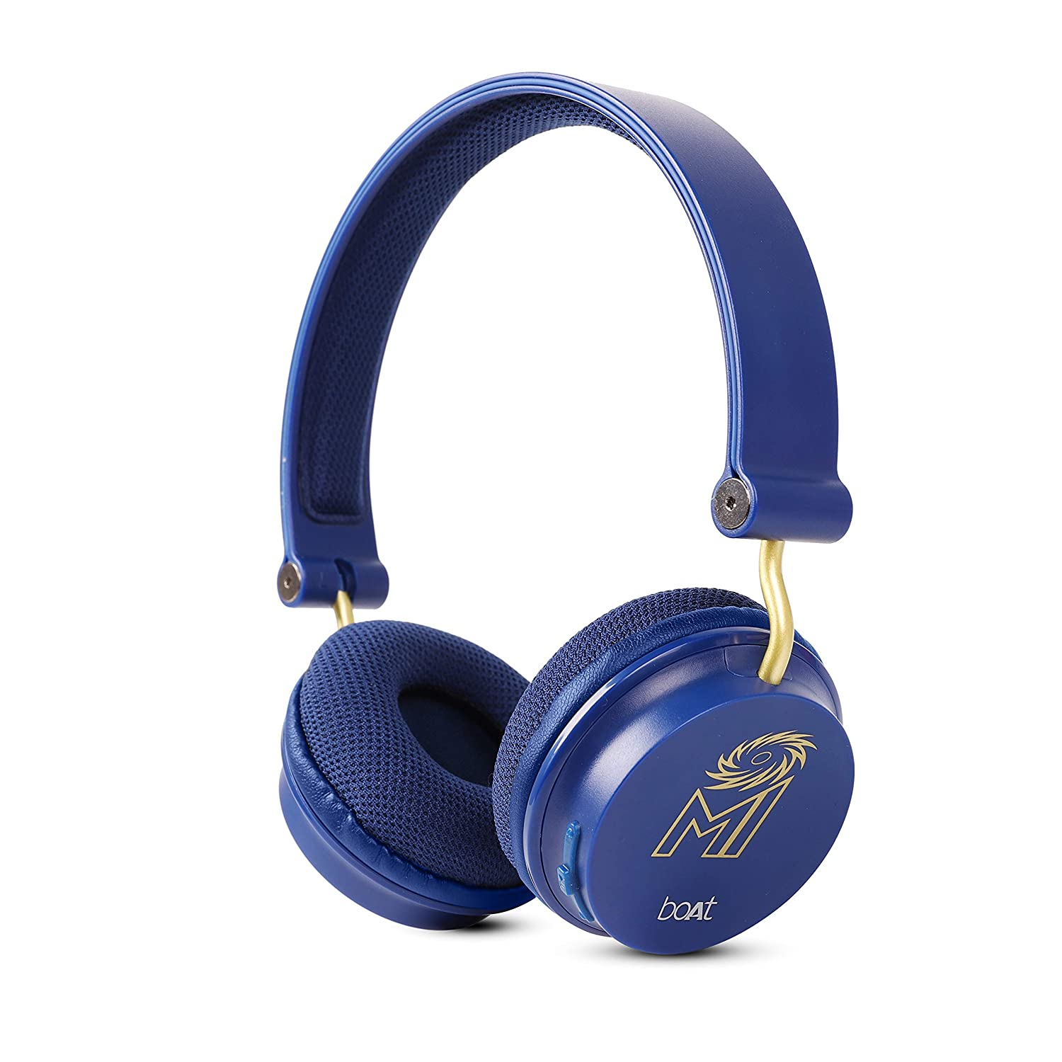 boAt Rockerz 400 Mumbai Indians Edition Bluetooth Headphone with Super Extra Bass, Up to 8H Playtime, Dual Connectivity Modes, Foldable Earcups and Lightweight Design (Blue)