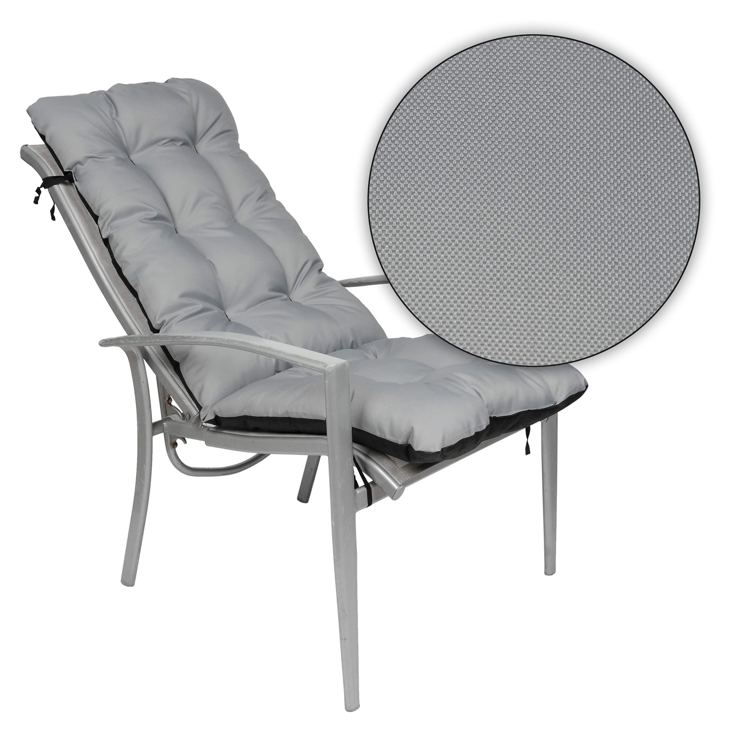 Outdoor//Indoor Relaxer Chair Pillow Seatings Beige Waterproof 48x123 cm Seat cover for Sunbeds Loungers SuperKissen24 Garden Chairs Sun Lounger Cushion Seat Pad