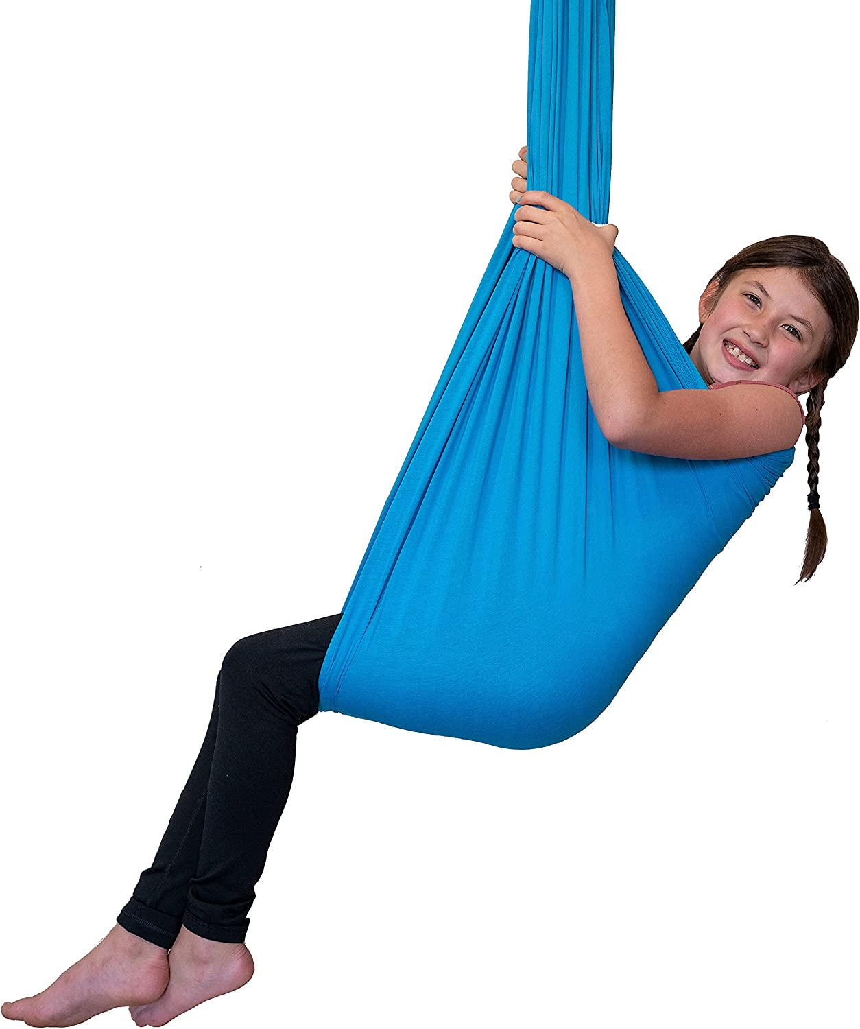 Red Wagon Integrity Sensory Swing for Kids with Special Needs, Processing Disorders, Asperger, Autism, or ADHD, Calming Therapy and Play for Stress or Anxiety, Ceiling Mounted Hammock