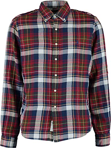 Polo Ralph Lauren M Yale 2 Newport Camisa de Cuadros: Amazon.es: Ropa y accesorios