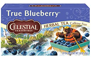 Celestial Seasonings Herbal Tea, True Blueberry, 20 Count Box (Pack of 6)