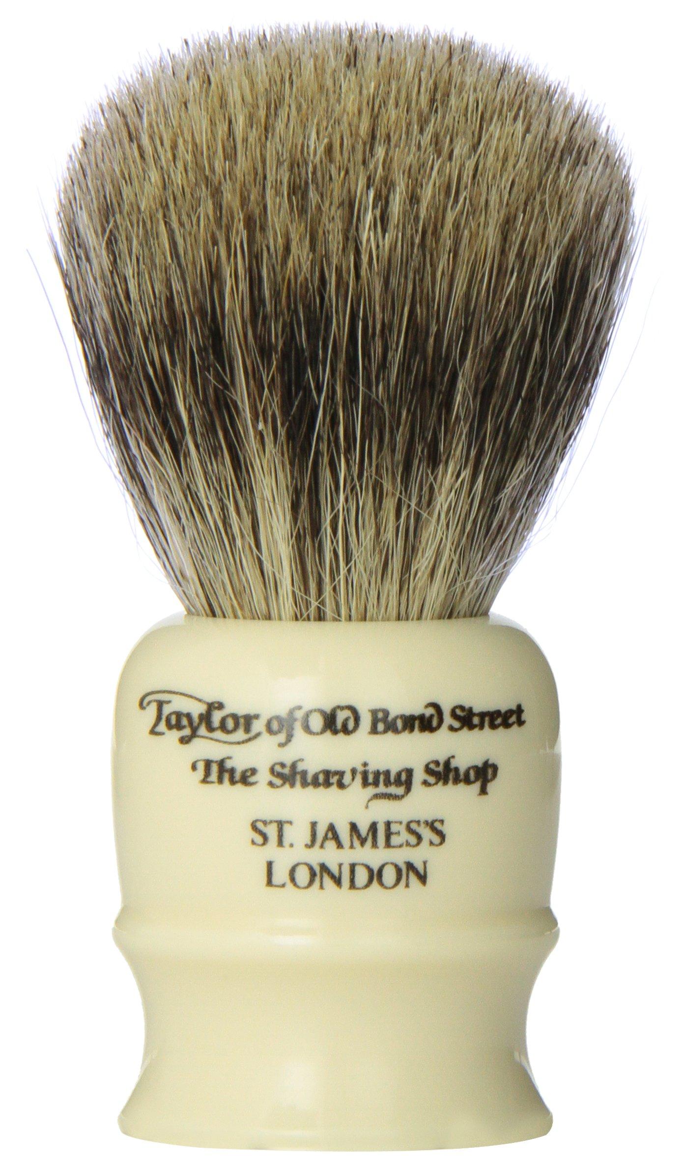 Taylor of Old Bond Street Pure Badger TRAVEL Shaving Brush - Ivory