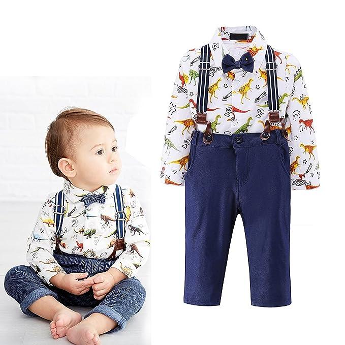 Amazon.com: 4 piezas bebé niños ropa conjunto Cartoon ...