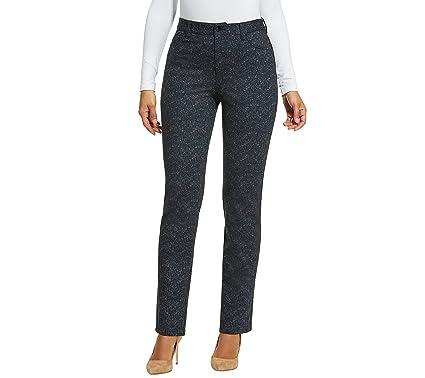 f6f4544ca692a Gloria Vanderbilt Amanda Ponte Damask Printed Pants 8 at Amazon ...