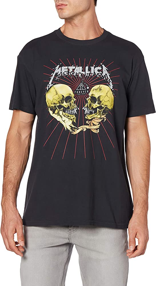 BILLABONG Ai Metallica - Camiseta para Hombre, Color Negro Negro S: Amazon.es: Deportes y aire libre