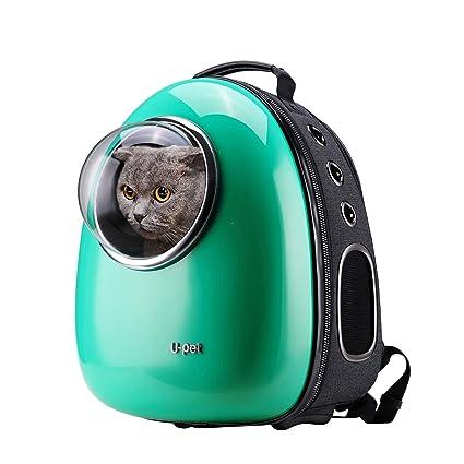 Amazon.com   Upet Bubble Pet Travel Backpack Carriers Green   Pet ... 92d5e0d105
