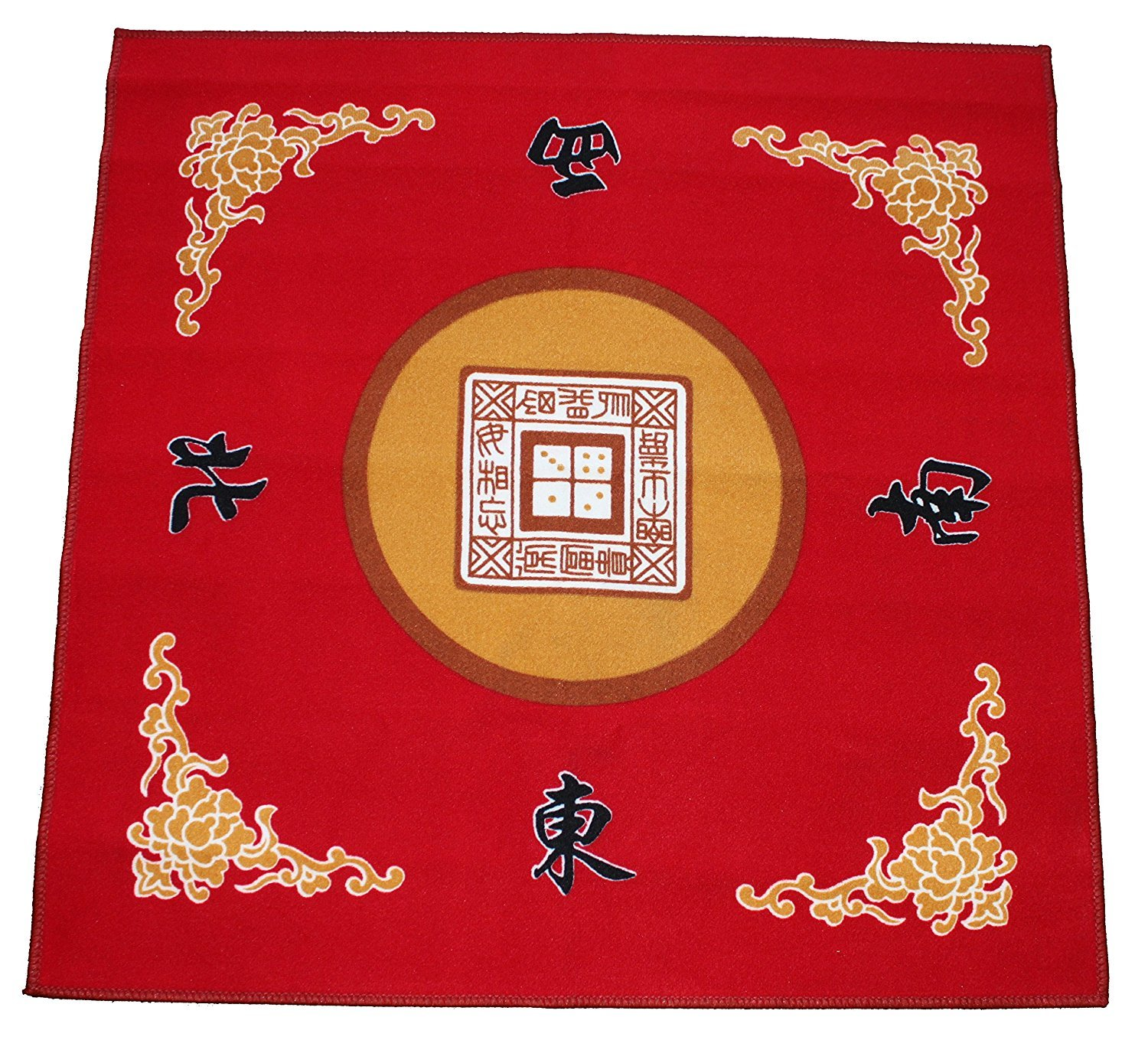 31.5'' Table Cover - Slip Resistant Mahjong Game / Poker / Dominos / Card Tablecover Table Top Mat - Red by We pay your sales tax (Image #2)