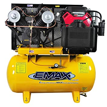 Amazon.com: 18 HP Gas Air Compressor, 60-Gallon, Horizontal, Electric Start, Industrial Plus Series, Model EGES1860ST by EMAX Compressor: Home Improvement