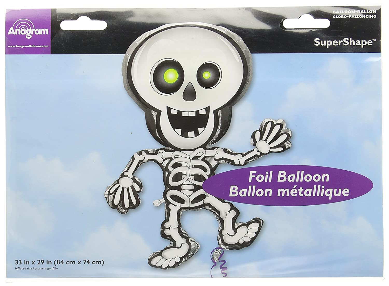 Skeleton Halloween Super Shape Mylar Foil Balloon Party Decoration
