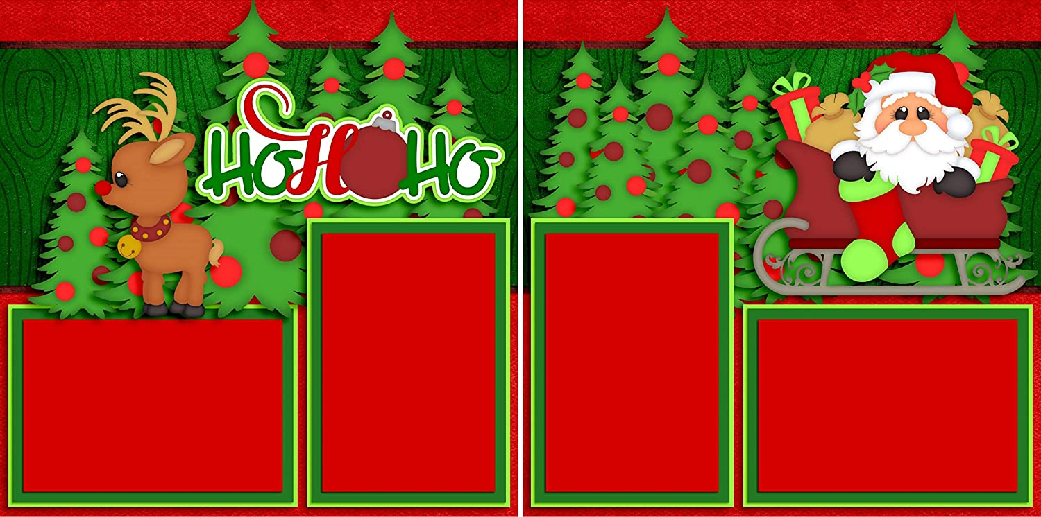 EZ Layout 4433 Christmas Premade Scrapbook Pages Rudolph NPM
