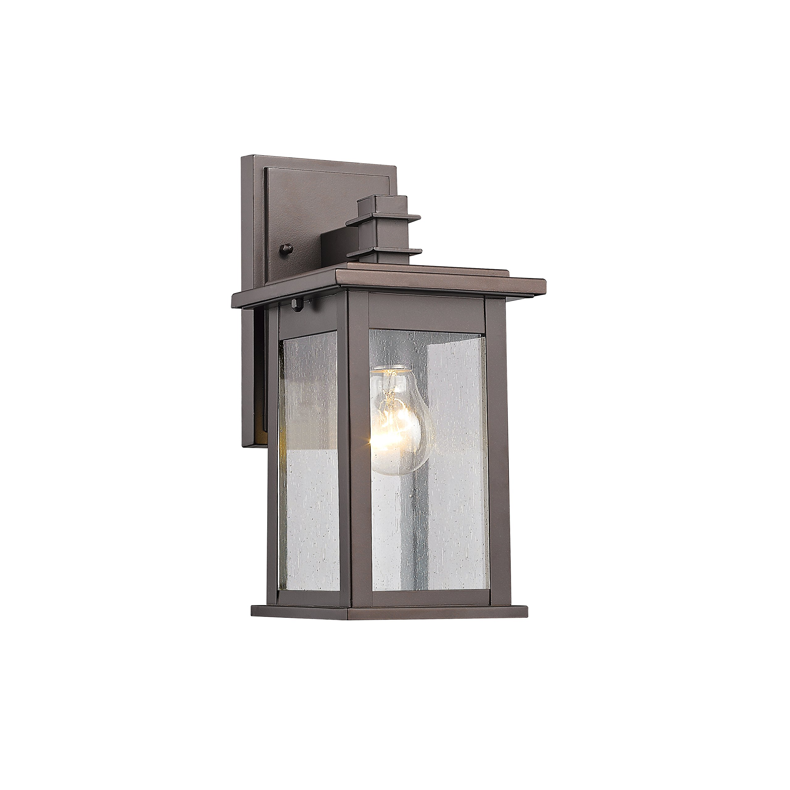 Chloe Lighting CH822031RB12-OD1 Transitional 1 Light Rubbed Bronze Outdoor Wall Sconce 12'' Height