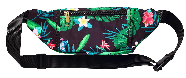 5b2d6cff8614 WODODO Tropical Jungle Pattern Print Fashion Cute Fanny Pack Women Rave  Festival Party Hiking Travel Hip Packs