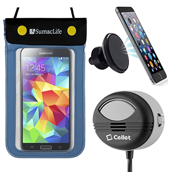new product 1aeac 7e29b Amazon.com: Waterproof Cell Phone Pouch + Hands-Free Speaker + ...