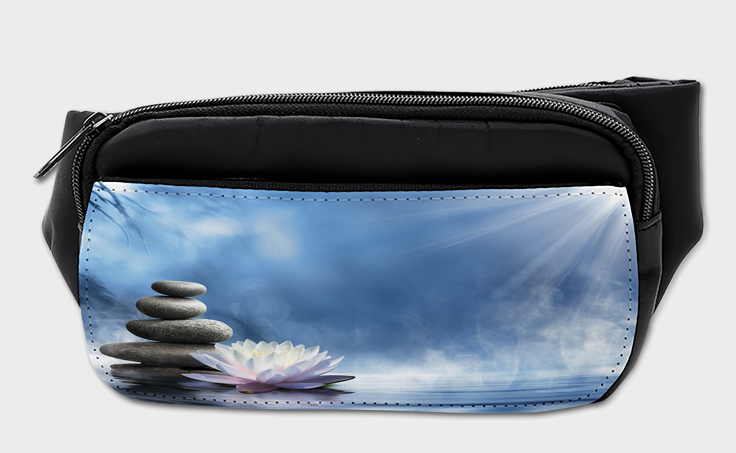 Lunarable Spa Bumbag, Zen Spirituality Serenity Theme, Fanny Pack Hip Waist Bag