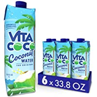 Vita Coco Coconut Water, Pure Original, Refreshing Coconut Taste, Natural Electrolytes, Vital Nutrients, 33.8 Oz (Pack of 6)
