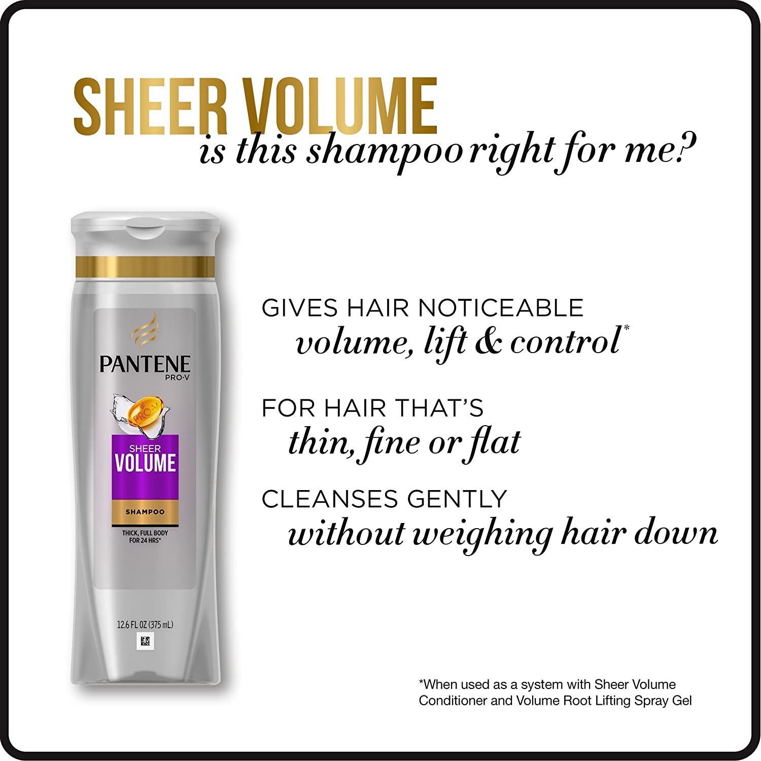 Amazon Com Pantene Pro V Sheer Volume Shampoo 30 4 Fluid Ounce