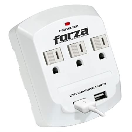 Amazon Com Forza 3 Outlet 2 Usb Port Grounded Wall Tap 2 Outlet
