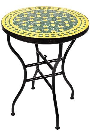 Table de bistrot marocaine originale en mosaïque - Ø 60 cm - Grand ...