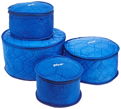 Incroyable Hagerty Plate Saver China Storage, Set Of 4, Blue