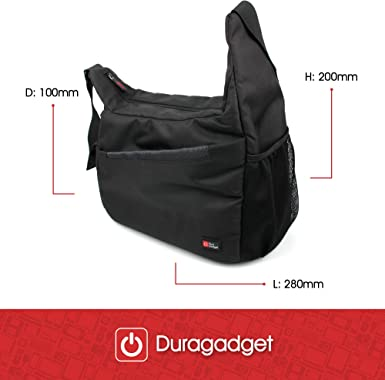 DURAGADGET Durable Shoulder Sling Bag in Black /& Orange Compatible with Canon EO6 6D Mark II