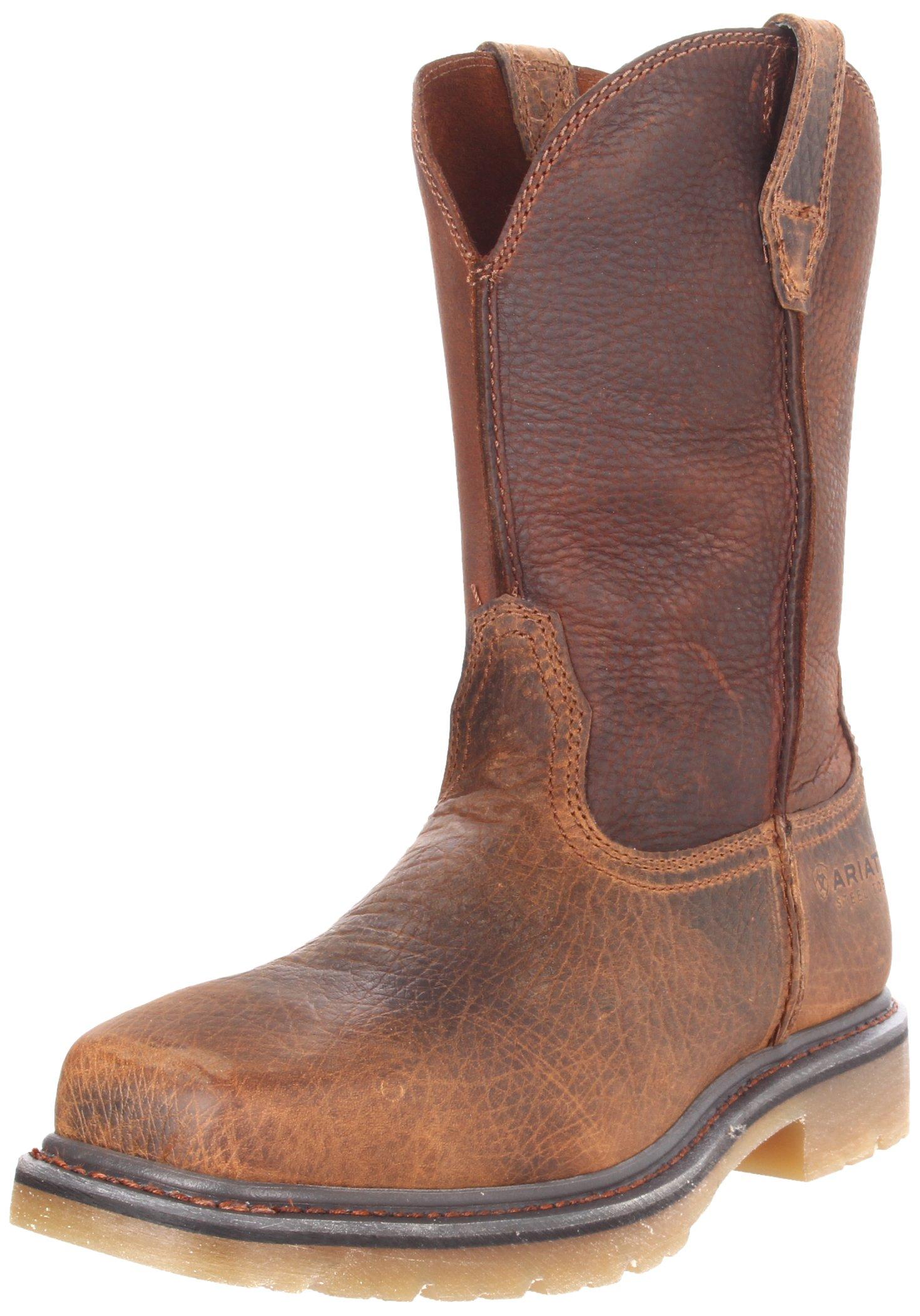 Ariat Men's Rambler Pull-on Steel Toe Work Boot, Earth/Brown, 12 2E US