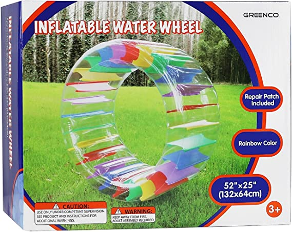 Amazon.com: Flotador rueda Greenco Kids colorido, de 52 ...