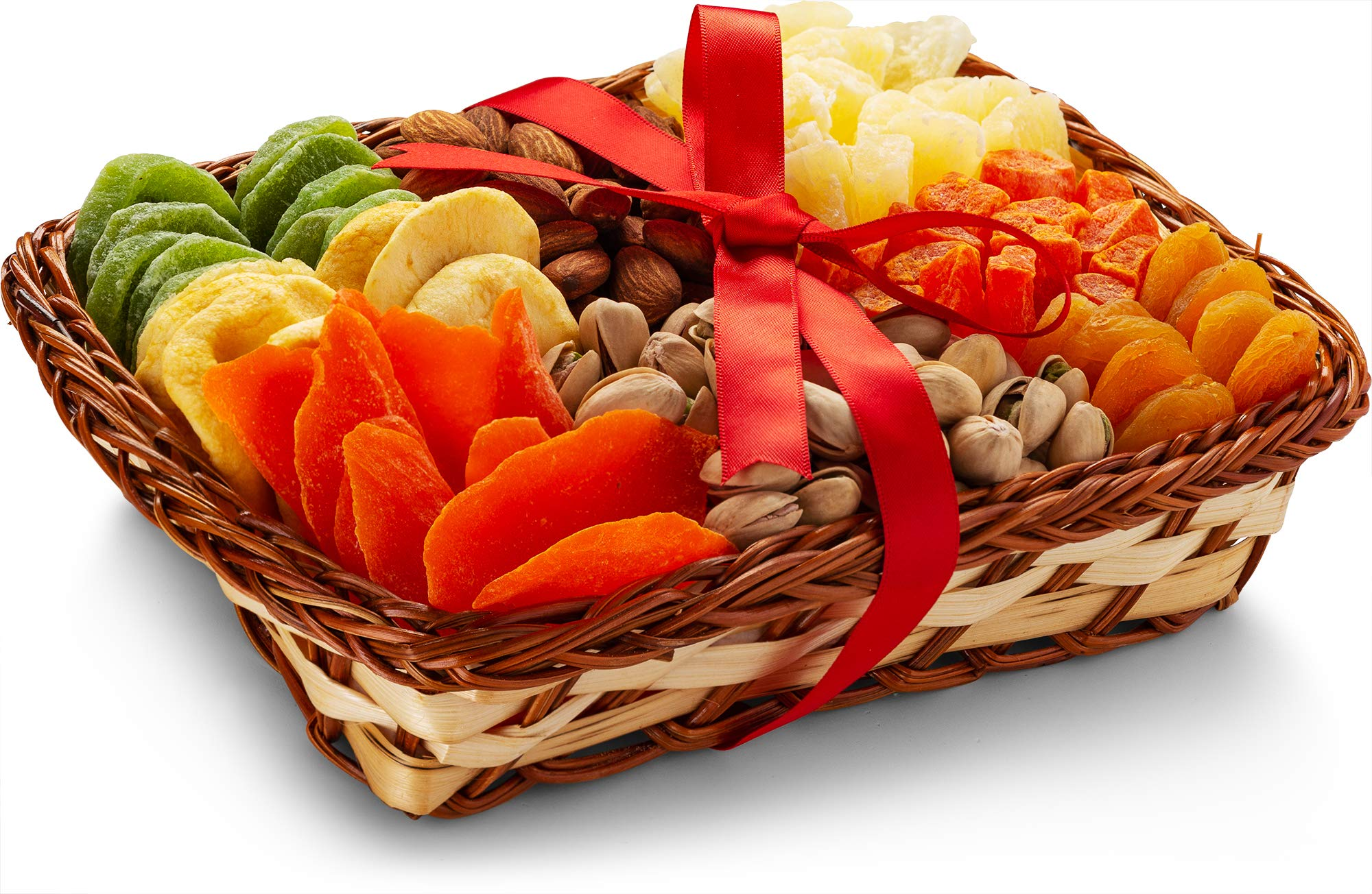 Holiday Nut and Dried Fruit Gift Basket, Healthy Gourmet Snack Christmas Food Box, Great for Birthday, Sympathy, Family Parties & Movie Night or as a Corporate Tray-Sweet Choice
