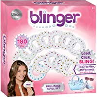 Blinger Brilliance Color Refill Set – Includes 180 Round Gems in a Variety of 12 Colors