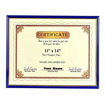 Amazon.com - 11×14 Inch Certificate Document Frame - Made to Display ...