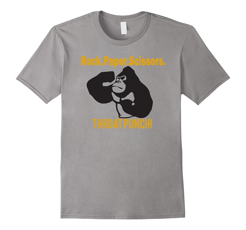 rock paper scissors throat punch shirt-CD