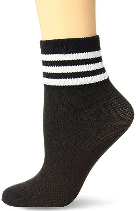 167efa2d7ec6 Amazon.com   Adidas Socks Women s Originals Mesh Striped Ankle ...