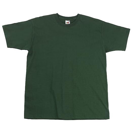 Fruit of the Loom Herren Super Premium Kurzarm T-Shirt (3XL) (Flaschengrün