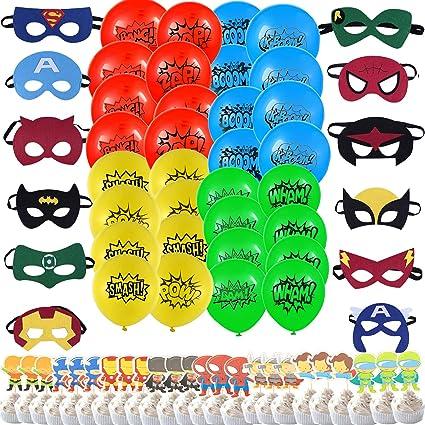 Amazon.com: Superhéroe Party Supplies, 32 paquetes de globos ...