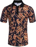 Daupanzees Men's Casual Classic Solid Jersey Polo Shirt