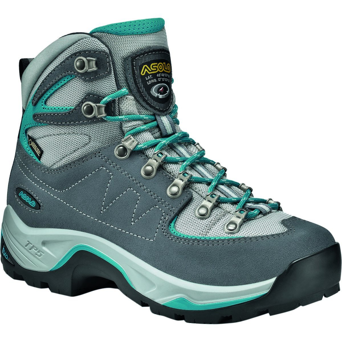 Asolo TPS Equalon GV Backpacking Boot - Women's B00WE3NGFM US Women's 9 B (M)|Grey Blue/Peacock