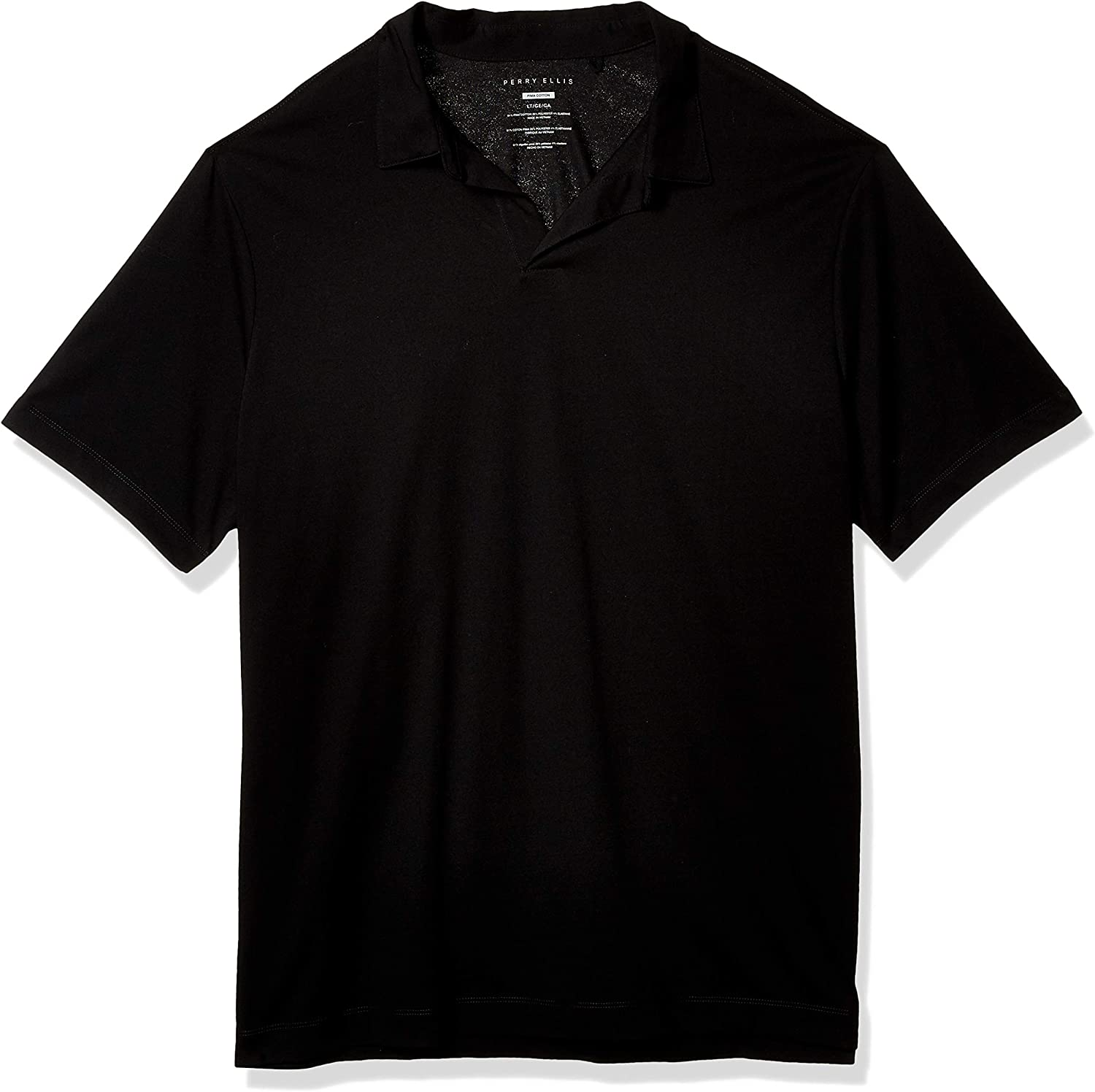 Perry Ellis Men's Big and Tall Stretch Pima Open Polo