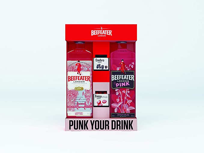 Beefeater London Dry Ginebra y Beefeater Pink Ginebra + Especias ...