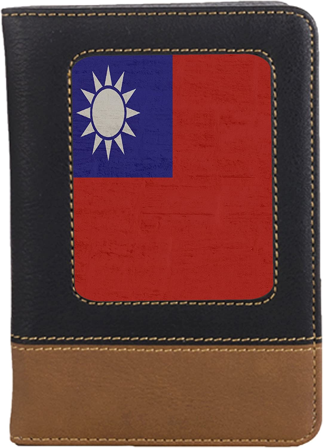 Taiwan Flag Leatherette Passport Wallet Style Case Cover For Travel