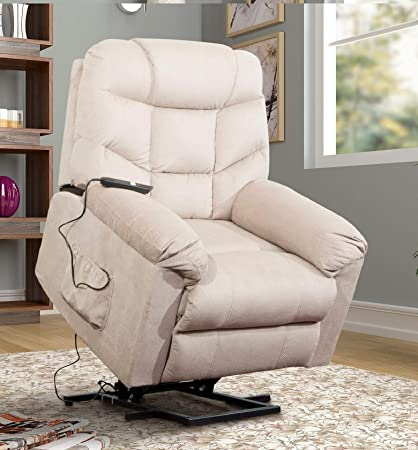 Awe Inspiring Power Lift Chair Recliner For Elderly Living Room Chair With Remote Control Beige Dailytribune Chair Design For Home Dailytribuneorg