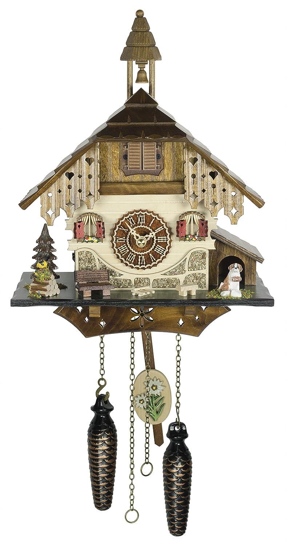 クォーツ式鳩時計 シュヴァルツヴァルド(黒い森)の家 メロディー付 電池付 TU 4236 QM B07518SQFX